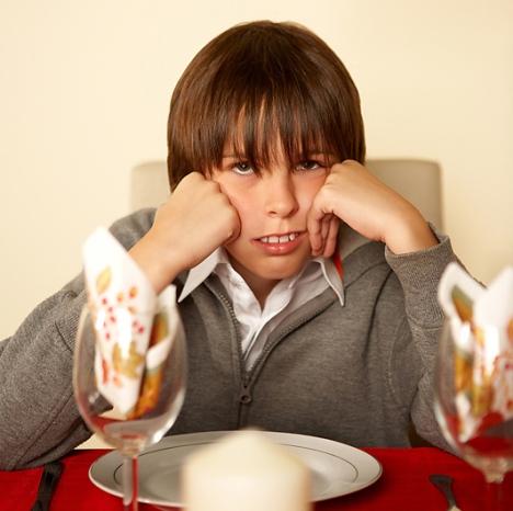 thanksgiving and grumpy ungrateful child