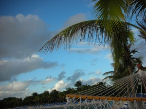 View from the hammock in Aruba