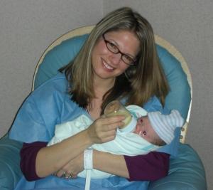 Dr. Robyn holidng baby Talia