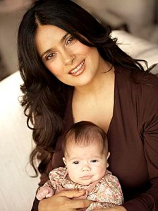 salma hayek with daughter Valentina
